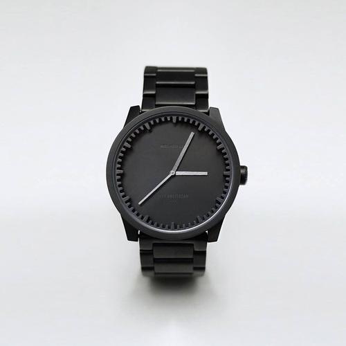 LEFF amsterdam|tube  北歐工業齒輪設計腕錶 (42mm,霧黑、黑鋼帶)