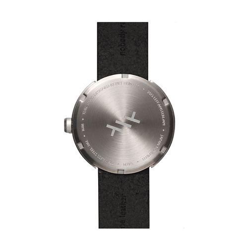 LEFF amsterdam|tube  北歐工業齒輪設計真皮腕錶 (42mm,不鏽鋼、黑皮帶)