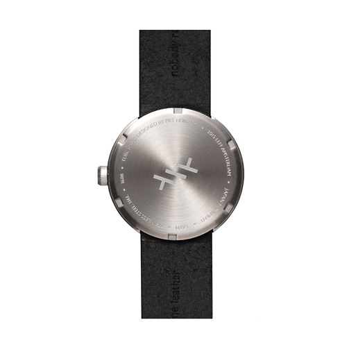 LEFF amsterdam|tube  北歐工業齒輪設計真皮腕錶 (38mm,不鏽鋼、黑皮帶)