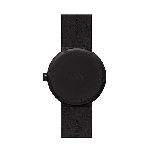 LEFF amsterdam|tube 北歐工業齒輪設計真皮腕錶 (38mm,霧黑、黑皮帶)