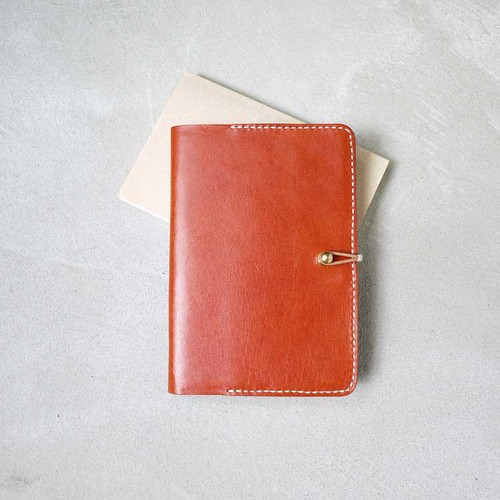 HANDIIN|隨身手記 植鞣皮革筆記本/書套(約 A6 尺寸, 50K)