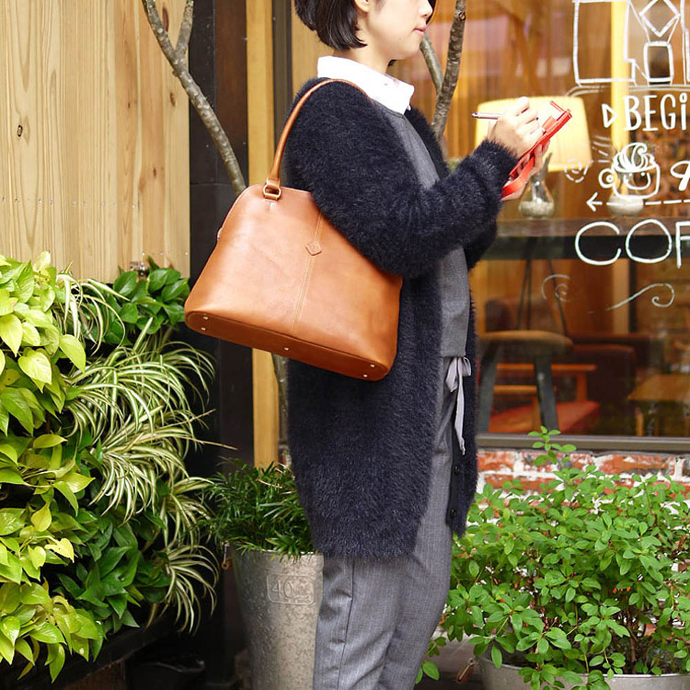 CLEDRAN|日系時尚簡約通勤肩背包波士頓包