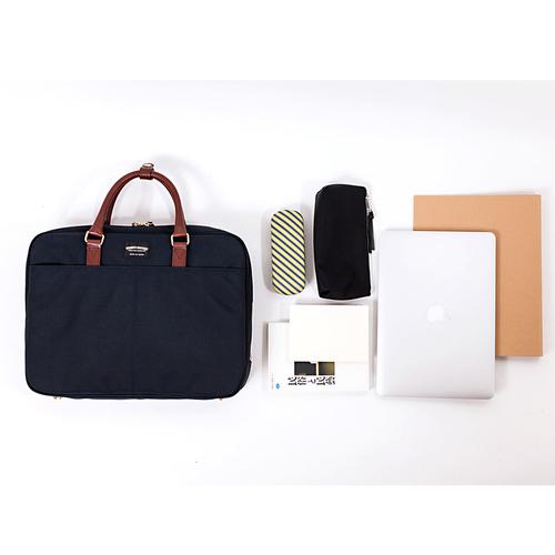 WONDER BAGGAGE 日本製時尚俐落 多功能防潑水尼龍公事包