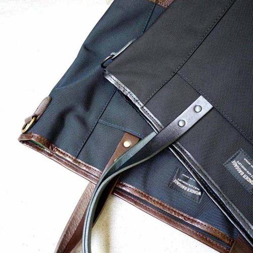 WONDER BAGGAGE|日本製時尚俐落 日系多功能防潑水手提/側肩背兩用包
