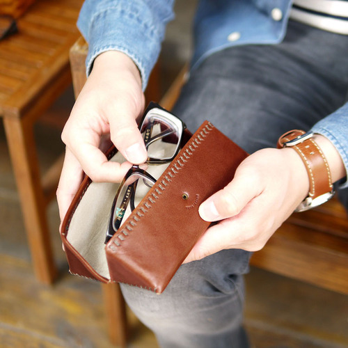 TEHA'AMANA 質感設計 日本職人個性手縫真皮眼鏡盒