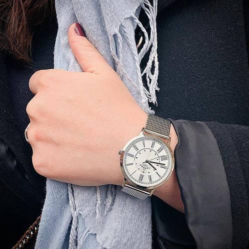 Camden Watch 時尚氣質 英倫羅馬數字腕錶/金屬錶帶(銀)