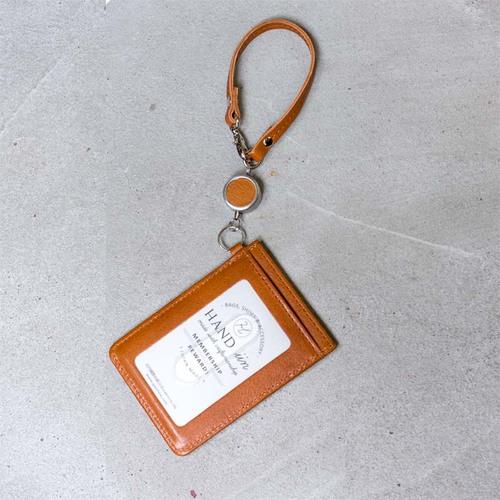 FOLNA|都會時尚 捲繩式真皮證件套