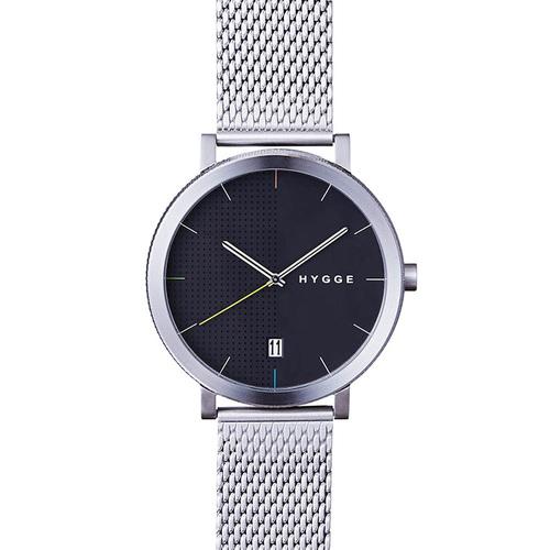 HYGGE 日本低調率性金屬腕錶(不鏽鋼銀、金屬銀錶帶)