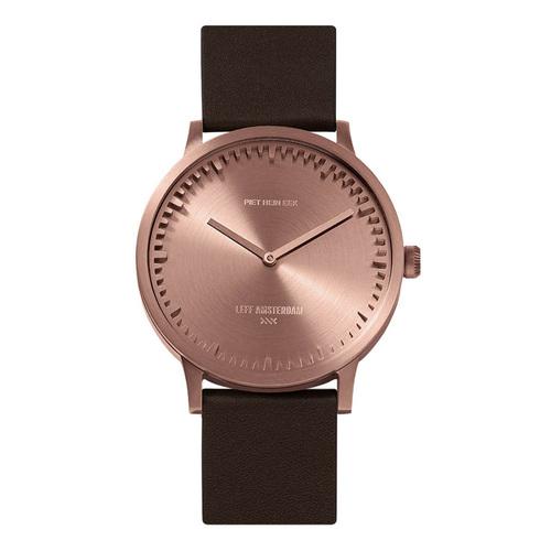 LEFF amsterdam|北歐工業齒輪設計真皮腕錶 (40mm玫瑰金 棕色皮錶帶)