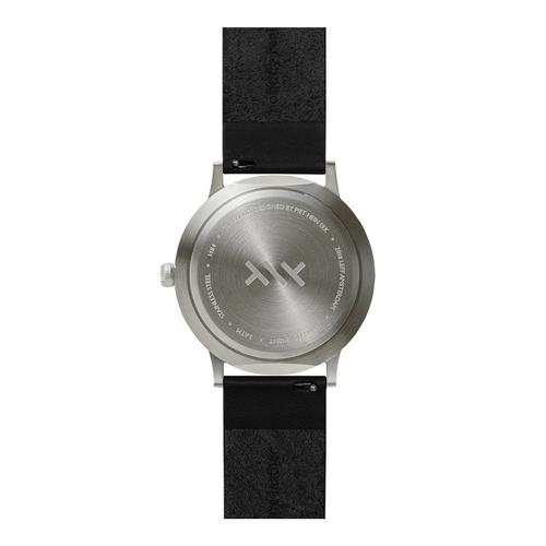 LEFF amsterdam|北歐工業齒輪設計真皮腕錶 (40mm, 不銹鋼銀 , 黑皮革錶帶)