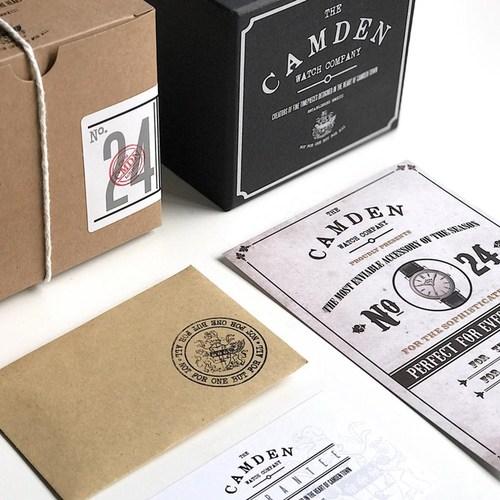 Camden Watch|NO24 純英國血統 復古經典腕錶(27mm, 銀色錶盤,駝色皮錶帶)