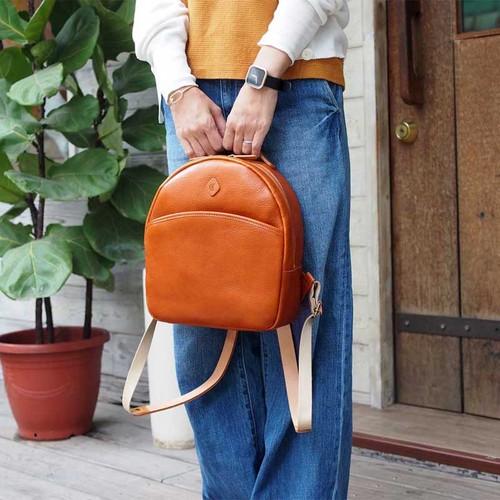 CLEDRAN|甜美氣息,日系休閒牛皮後背包