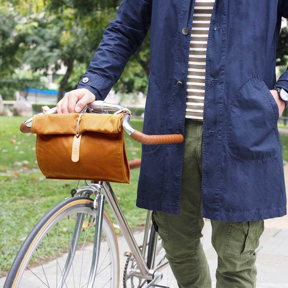 TEHA' AMANA|日系率性經典兩用油布 側背/單車包