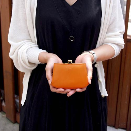 FOLNA|日系甜美韻味 防潑水牛皮卡片零錢包