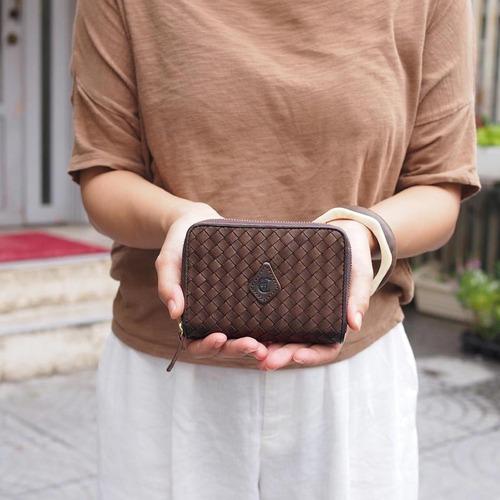 CLEDRAN|交織起舞 日本品味編織馬皮短夾