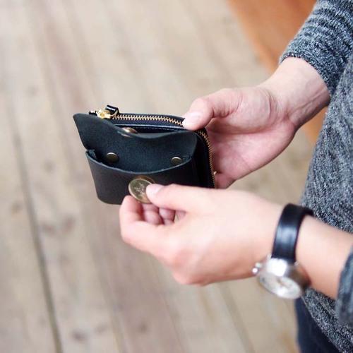 CLEDRAN|日系時尚 可拆式質感兩用皮革短夾/零錢包