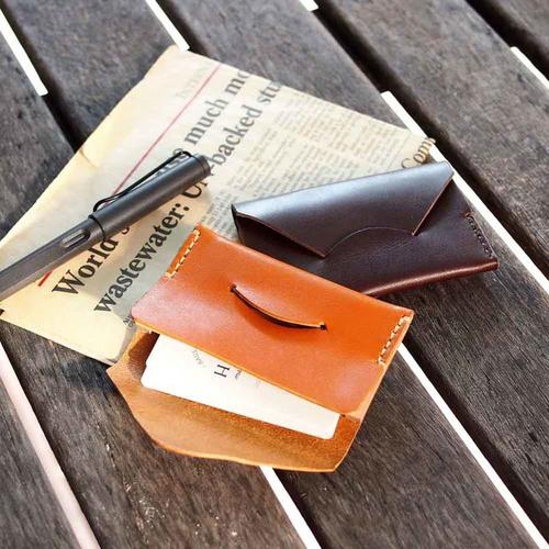 TEHA' AMANA 日系手縫植鞣牛皮信封式名片/卡片夾