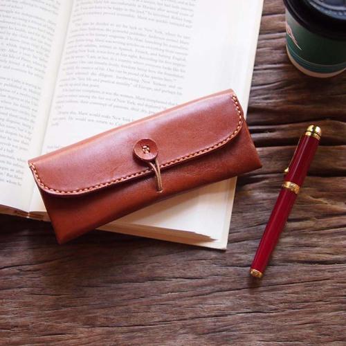 HANDIIN 日系簡約 手縫皮革筆盒