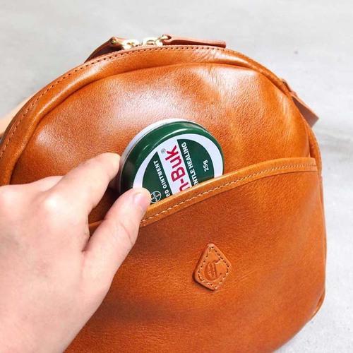 CLEDRAN|日系唯美俏皮 圓弧質感牛皮側背包