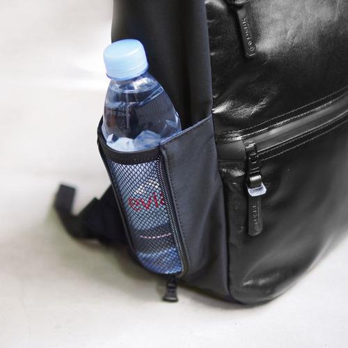 Harvest Label  日系都會時尚 防潑水牛皮機能多夾層後背/電腦包