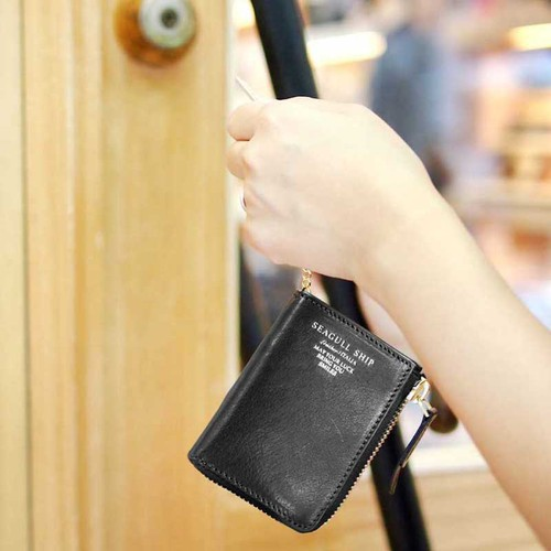 Baggy Port|日系大人味質感牛革L型拉鍊鑰匙包