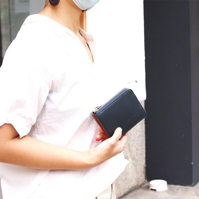 CLEDRAN|日系大人味率性L型拉鍊短夾