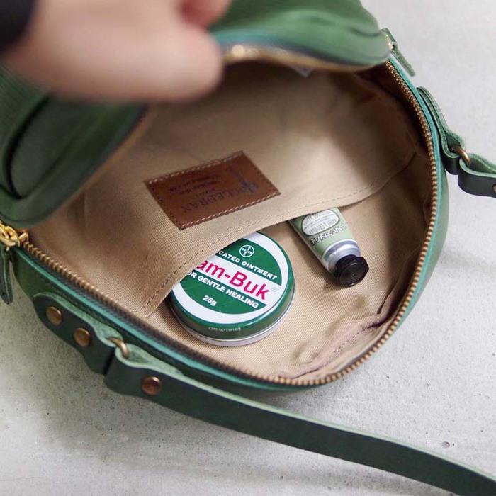 CLEDRAN|日系典雅 職人手工壓紋牛皮側背包