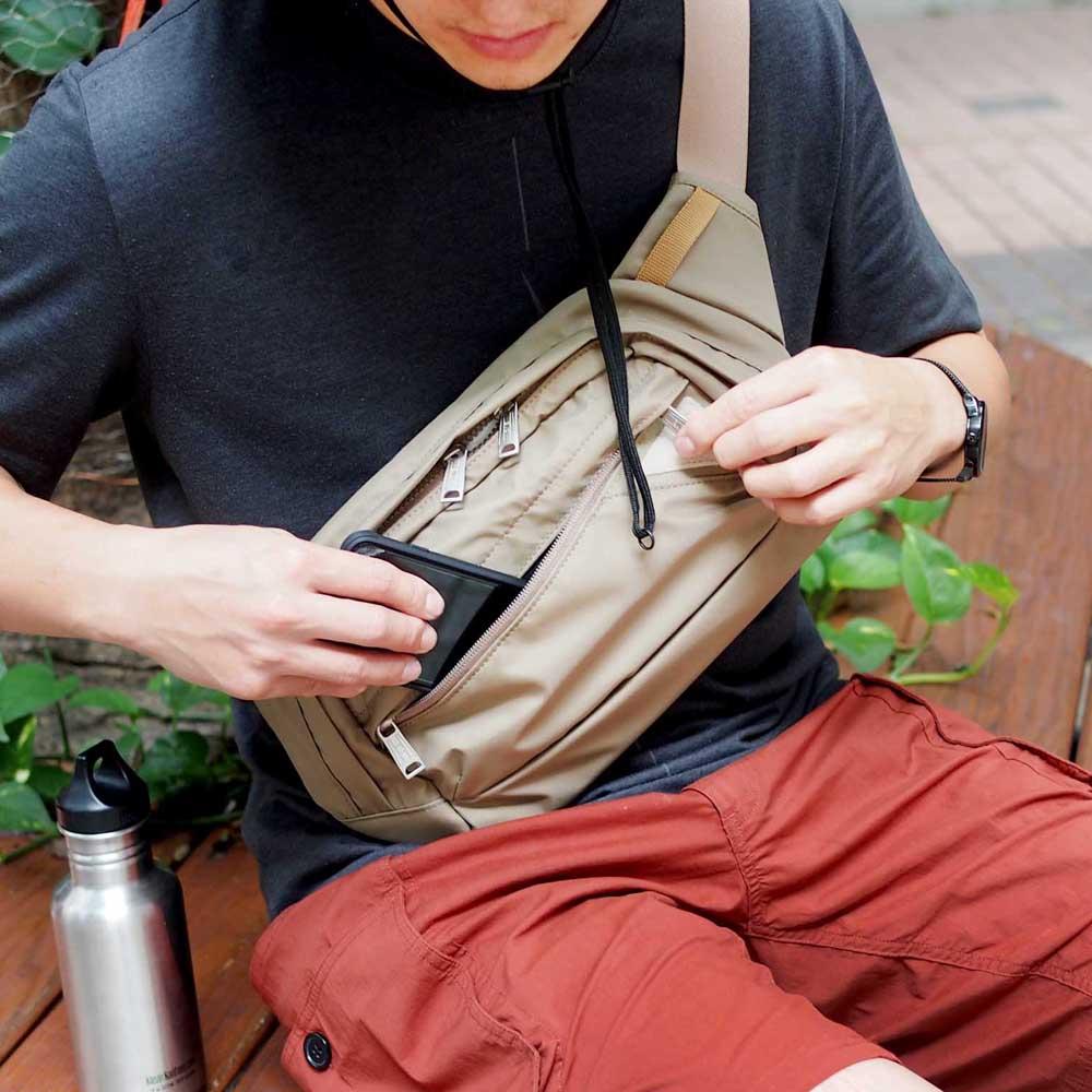 CIE|機能防潑水輕量尼龍側背包