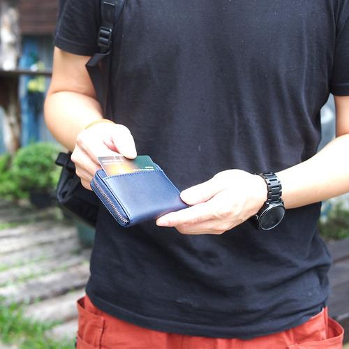 Baggy Port  日系手工藍染經典牛皮卡片零錢包