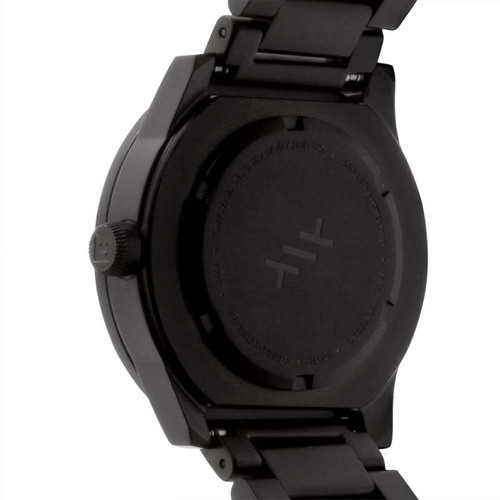 LEFF amsterdam|tube北歐工業齒輪設計腕錶(38mm、霧黑、黑鋼帶)