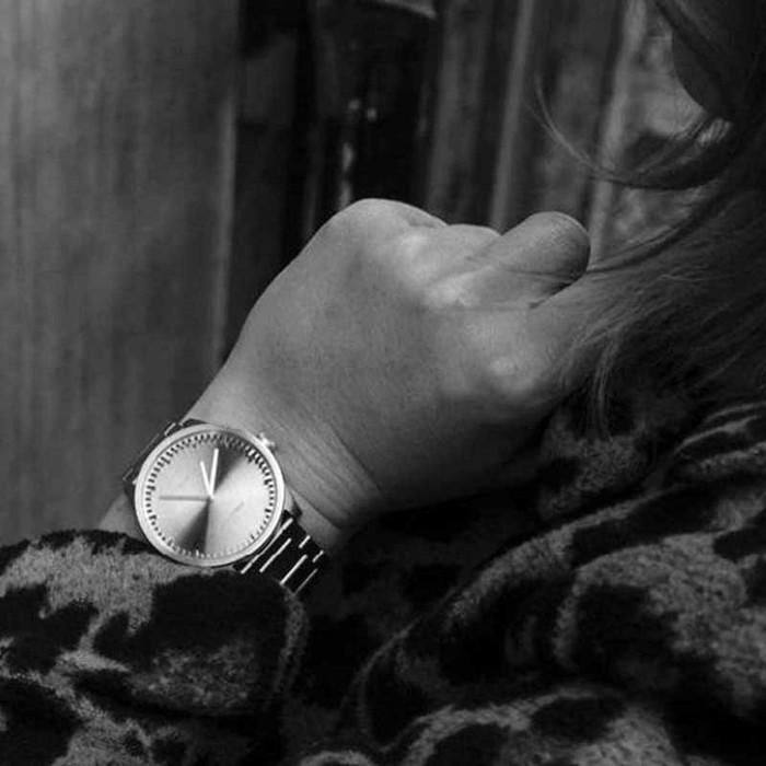 LEFF amsterdam|tube北歐工業齒輪設計腕錶(38mm、不鏽鋼銀、銀鋼帶)