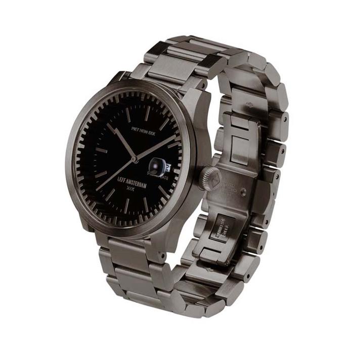 LEFF amsterdam|tube北歐工業齒輪設計腕錶(42mm、不銹鋼銀、銀鋼帶、日期功能)