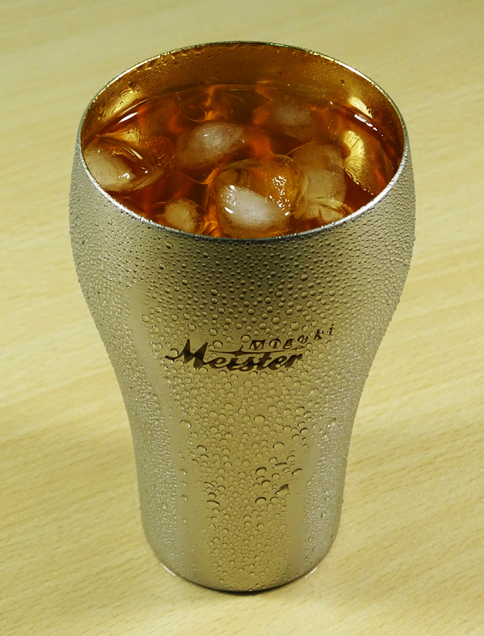 遠馸思創|日本製 24K 鑲金不鏽鋼啤酒杯 (380 ml)