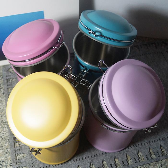 遠馸思創|馬卡龍色系郵筒造型不鏽鋼密封罐 (土耳其藍 1.0 L)
