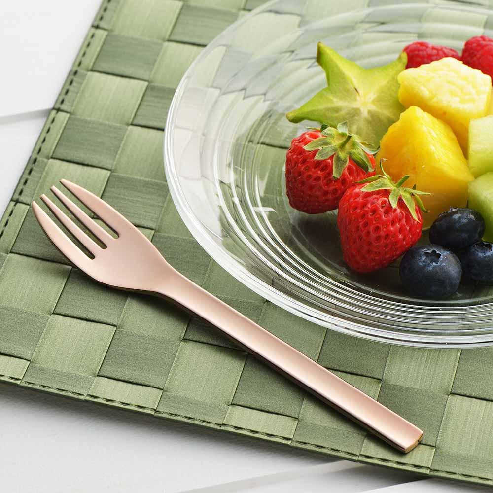 遠馸思創|日本製輕巧不鏽鋼研磨叉匙組 (尊爵金/粉紅金|15 cm)