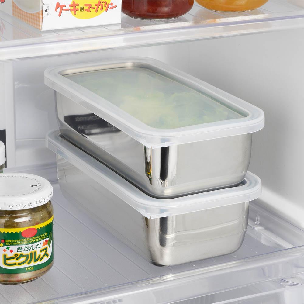 遠馸思創 日本製透明蓋不鏽鋼方形保鮮盒 (M)