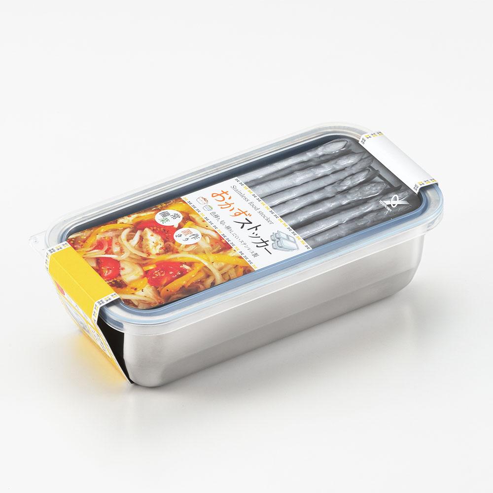遠馸思創|日本製透明蓋不鏽鋼方形保鮮盒 (M)