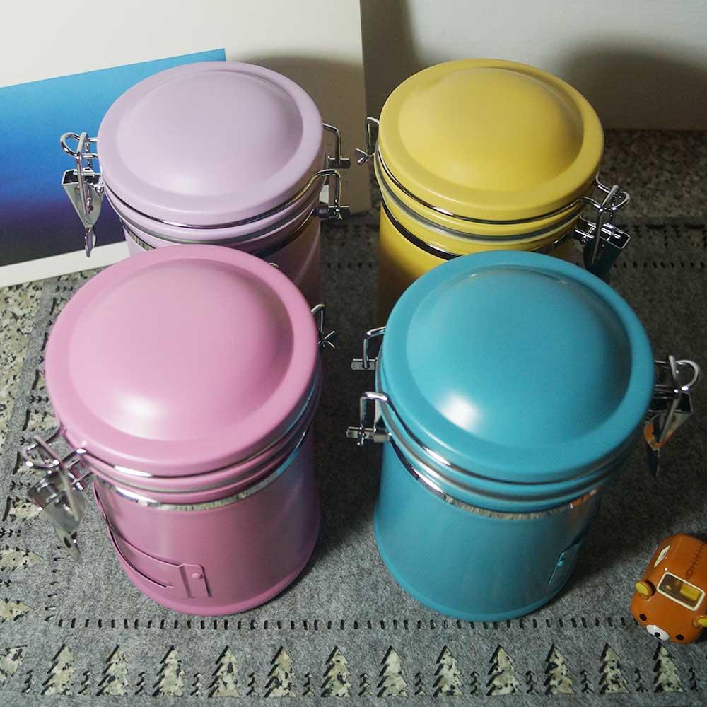 遠馸思創|馬卡龍色系郵筒造型不鏽鋼密封罐 (薰衣草紫 1.0 L)
