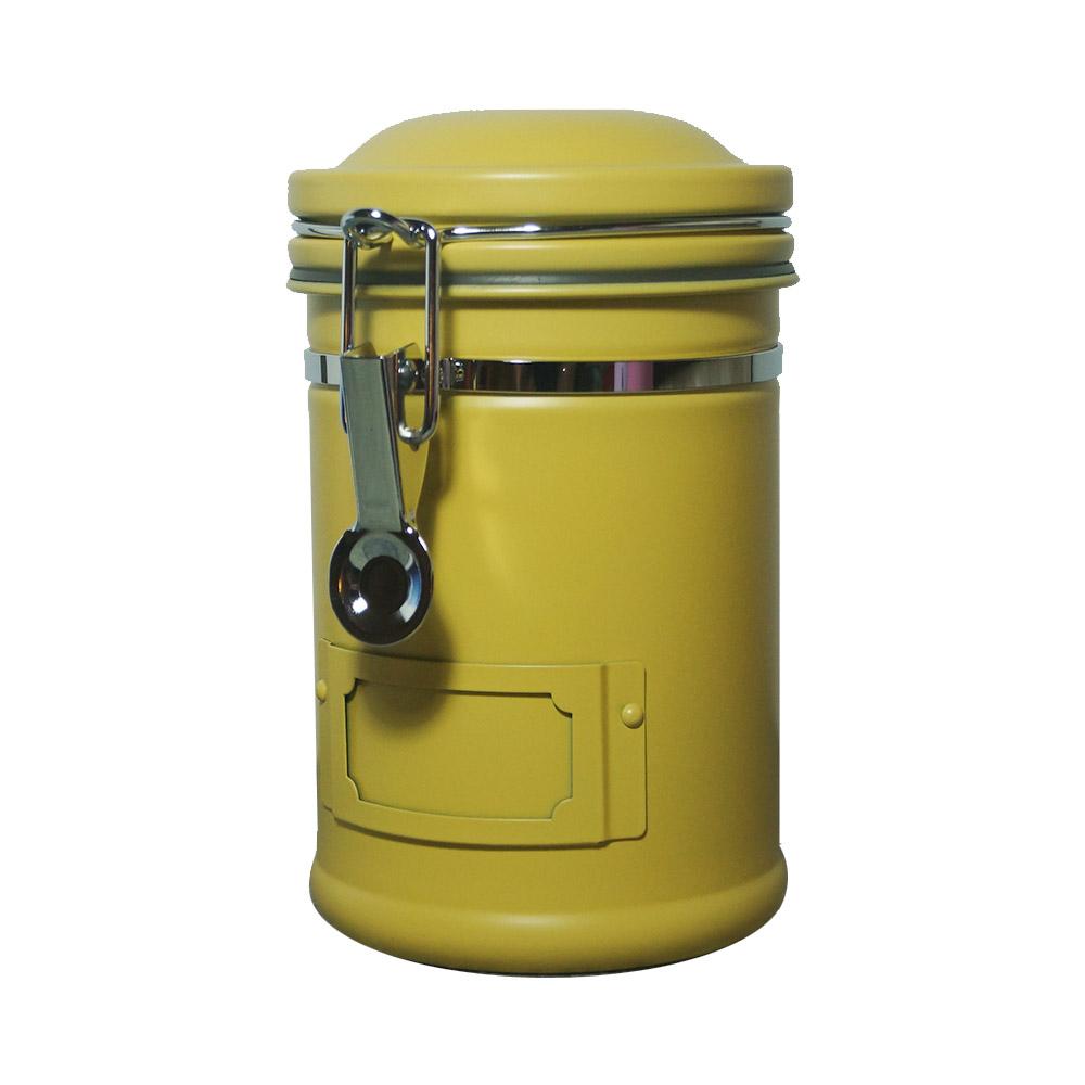 遠馸思創|馬卡龍色系郵筒造型不鏽鋼密封罐 (蒲公英黃 1.0 L)