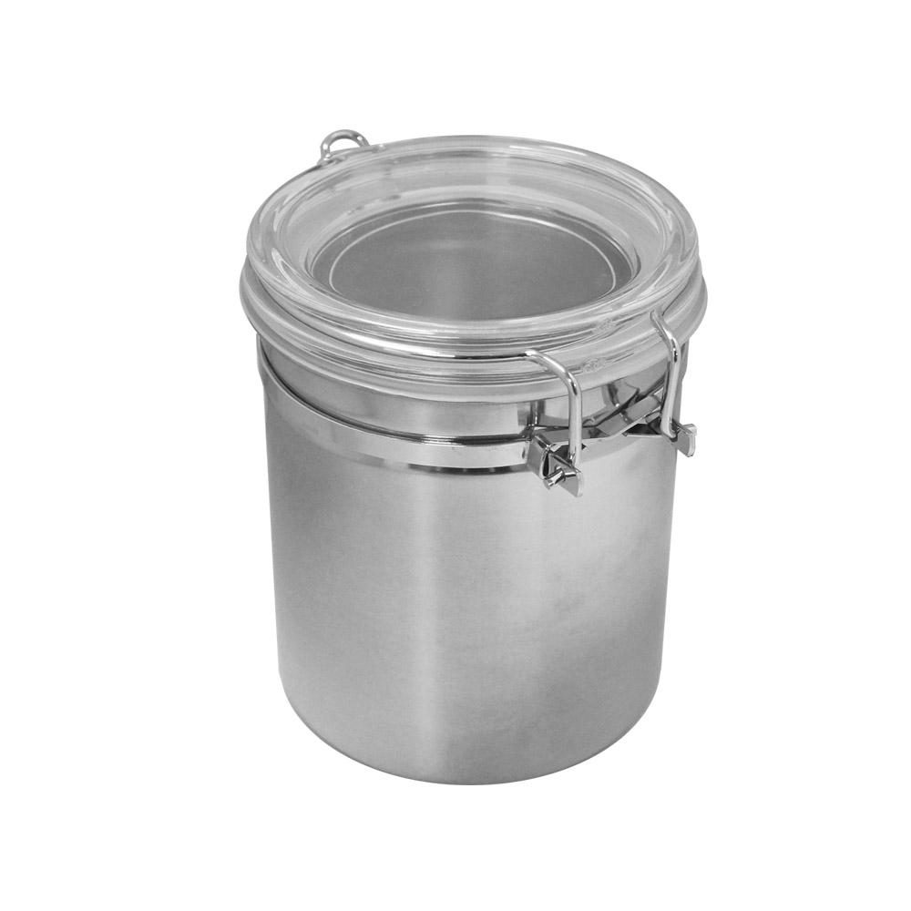 遠馸思創|台灣製 透明壓扣蓋不鏽鋼密封罐 (M 850mL)