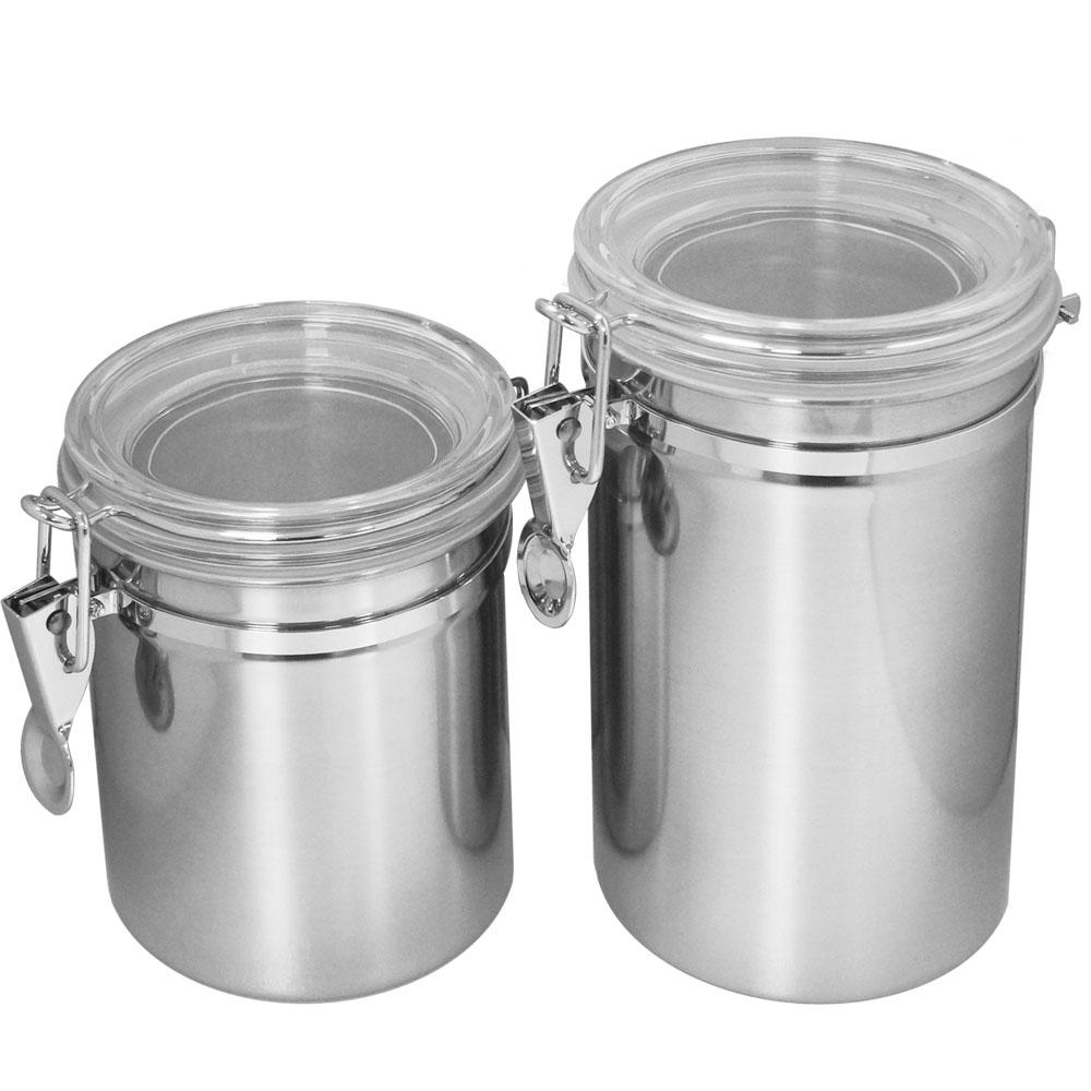 遠馸思創|台灣製 透明壓扣蓋不鏽鋼密封罐 (L 1250mL)