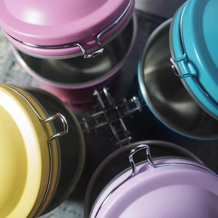 遠馸思創|馬卡龍色系郵筒造型不鏽鋼密封罐 (薔薇桃紅 1.0 L)
