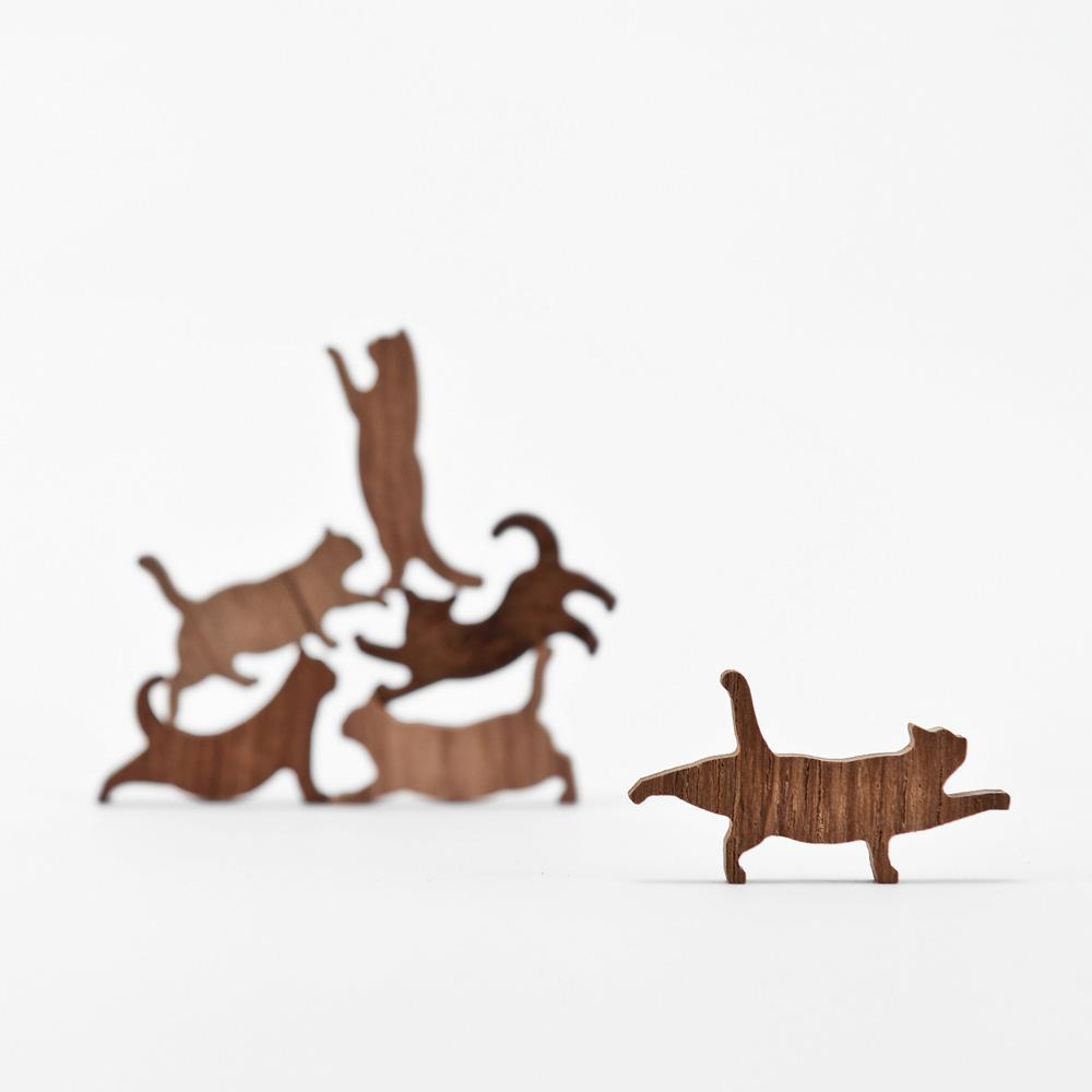 COMMA|貓咪疊疊樂-柚木(粉橘)