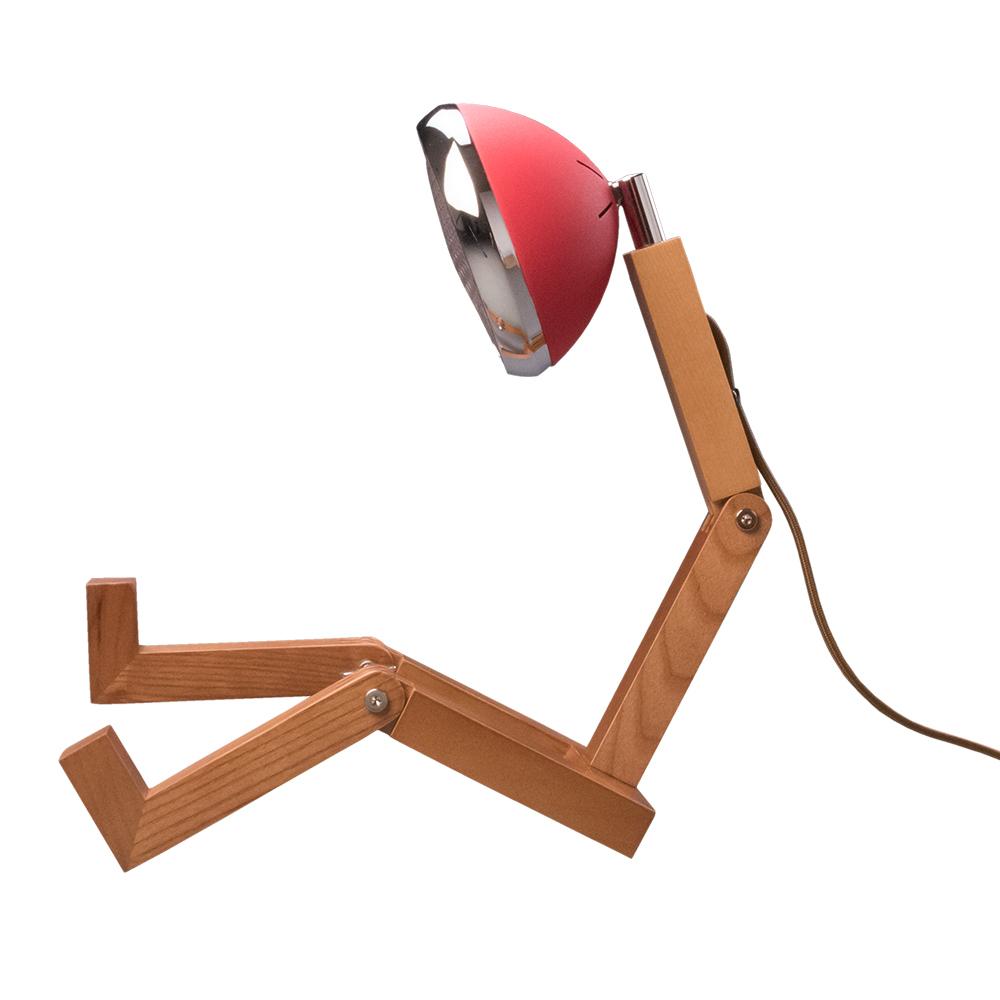 Soyee| LED梣木機器人燈(夢想紅)
