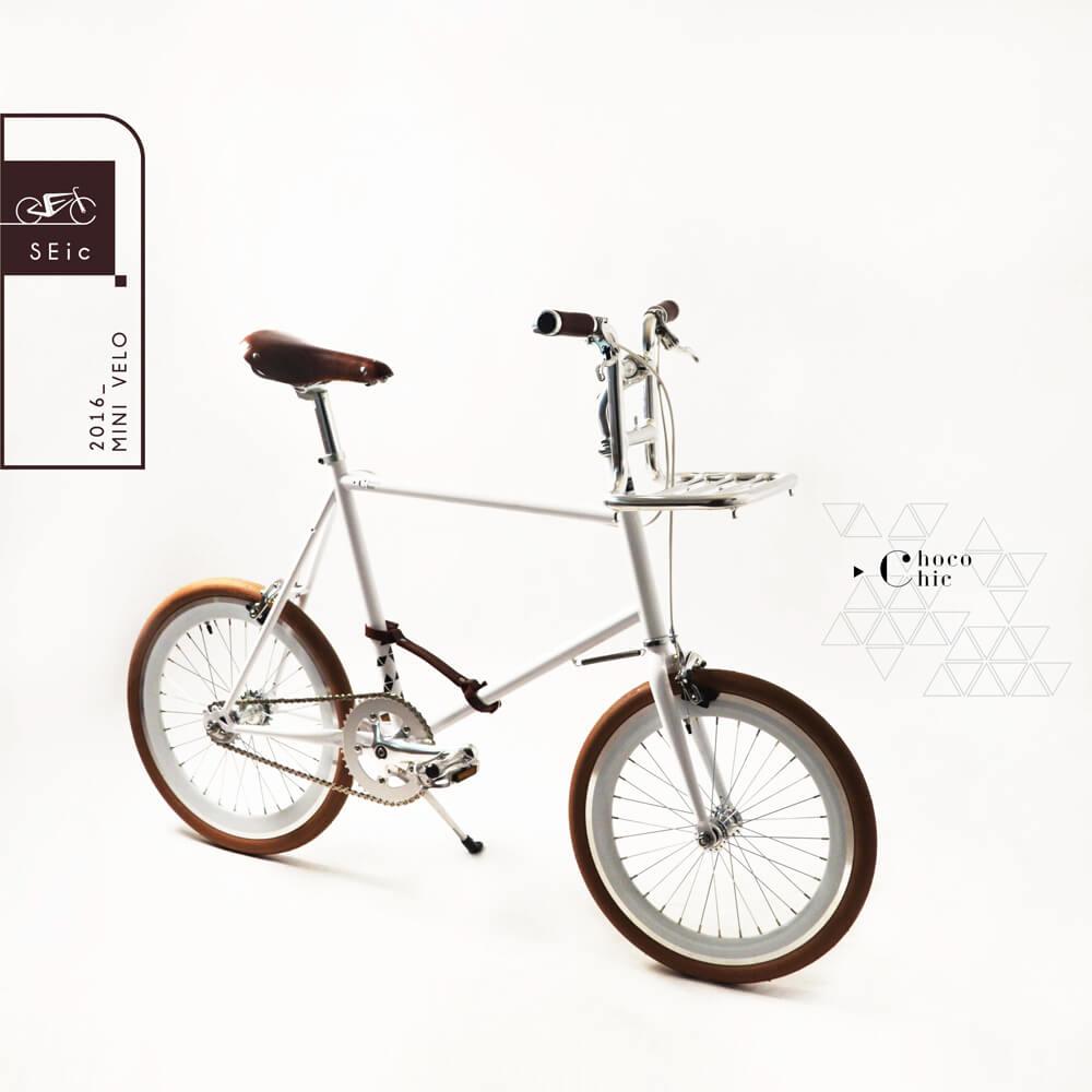 S E i c|小徑車Mini Velo _ Choco Chic (白)真皮升級款