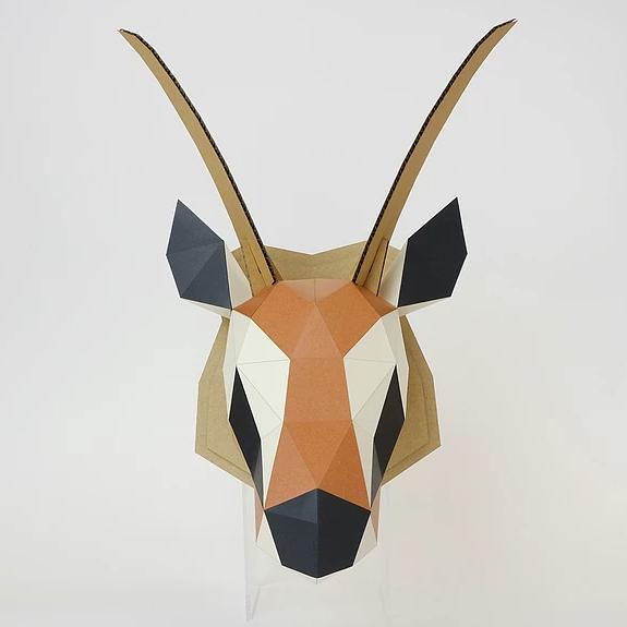 bog craft|立體動物紙藝  瞪羚/Wall L-size