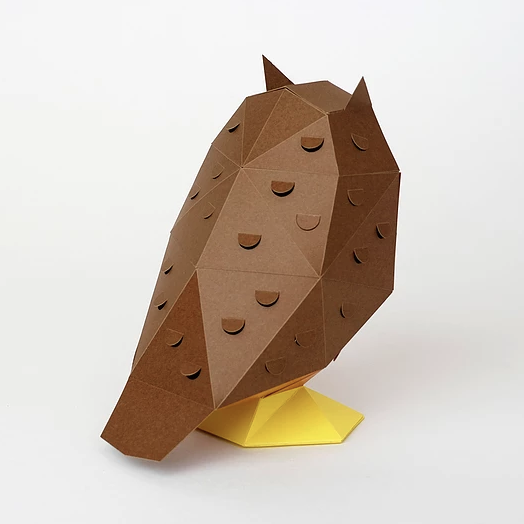 bog craft|立體動物紙藝  貓頭鷹/TINY