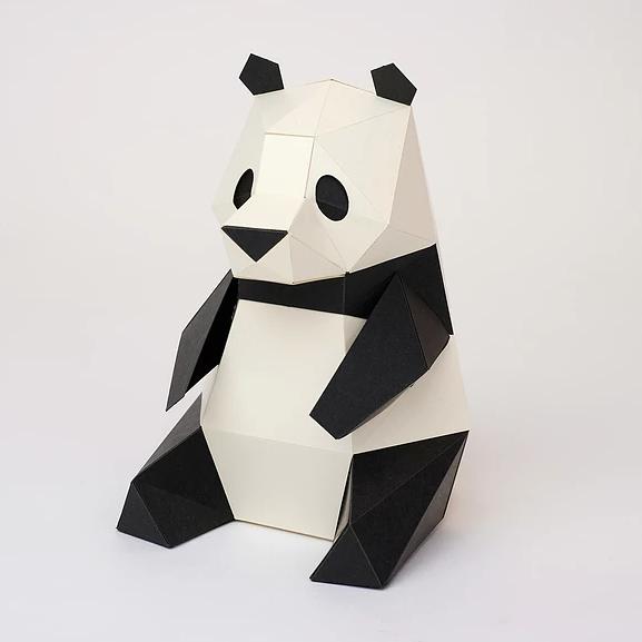 bog craft|立體動物紙藝  熊貓/TINY