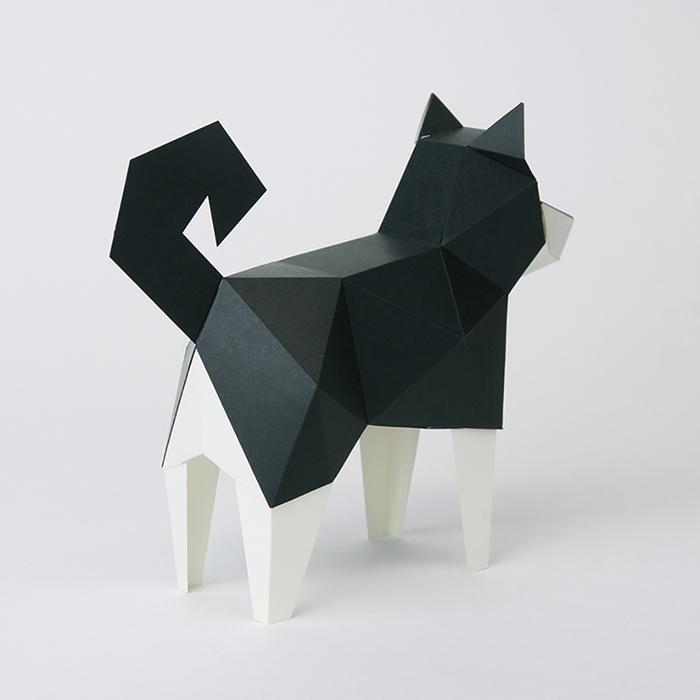 bog craft|立體動物紙藝  黑柴犬/TINY