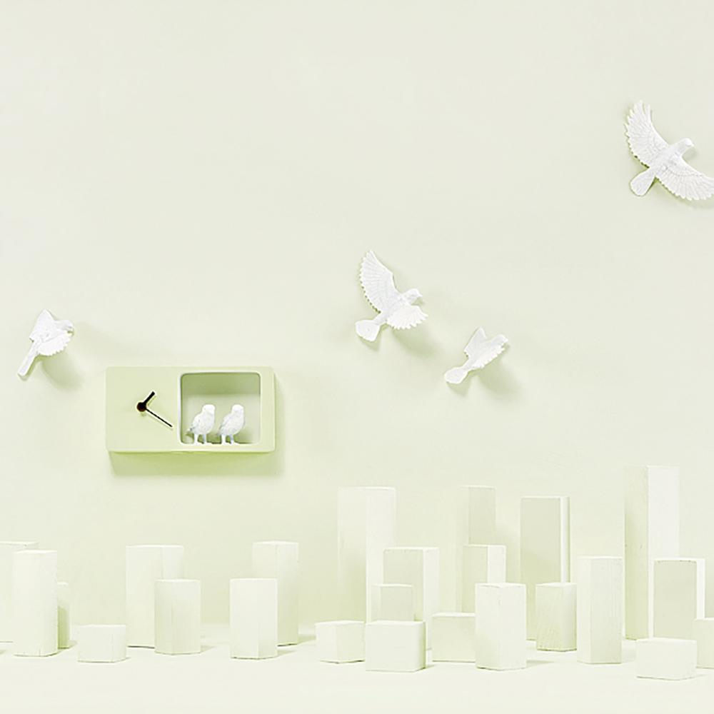 haoshi 良事設計|麻雀時鐘(綠色版)